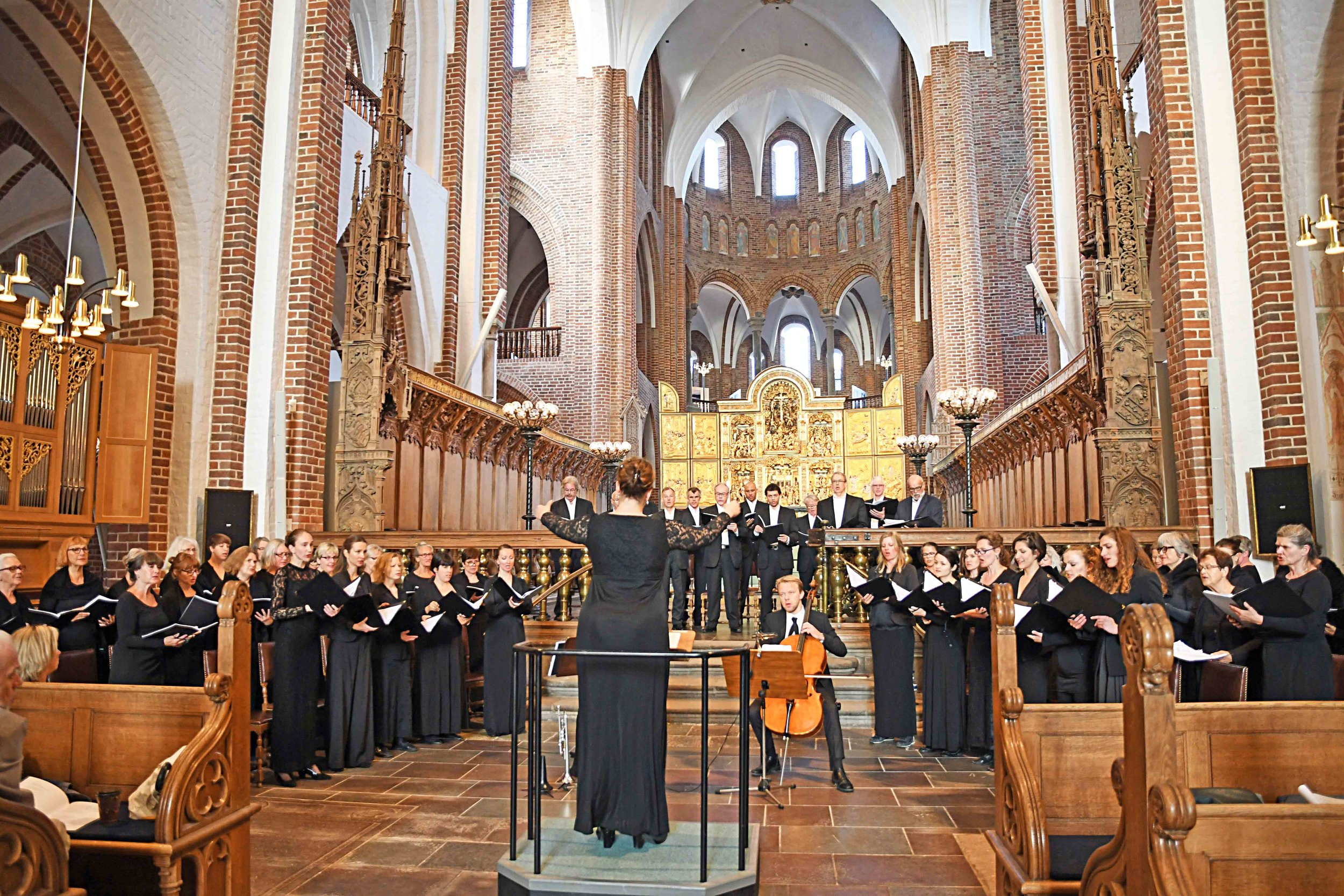 World Premiere in Roskilde Domkirke. Photo: Hasse Ferrold