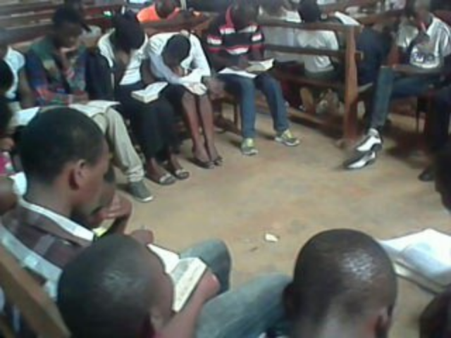 Group Bible study at Youth Camp - Beni, Congo DR