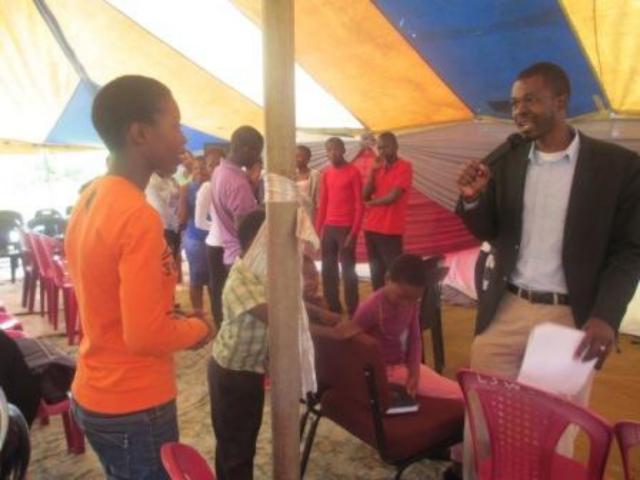 Sibusiso facilitating Life-skill program