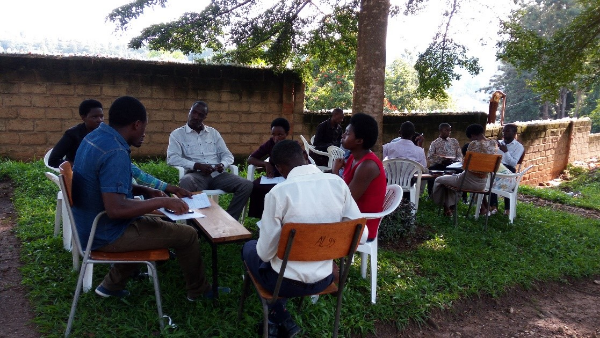 Group discussions at students' training - Rwanda