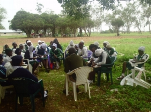 Group Bible Study during a weekend outreach ~ Plateau, Nigeria