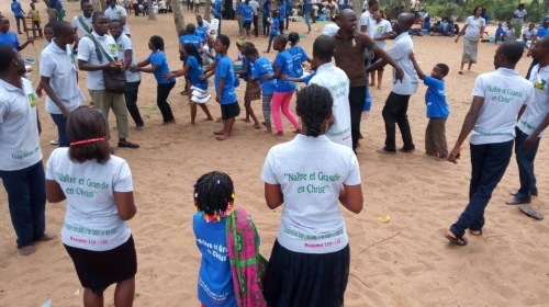 Children at Bible Camp during activity time ~ Benin