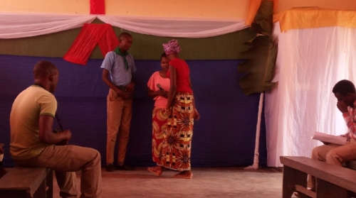 Role pay to promote Bible reading ~ Rwanda