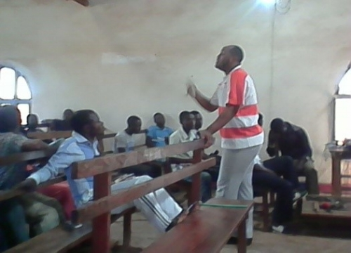 Campers hearing the Word of God at Youth Camp ~ Mupanda, Congo DR