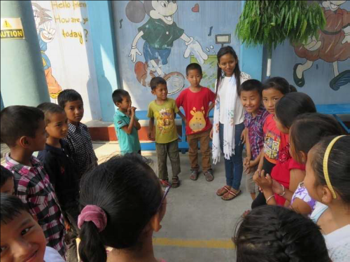 Children during activity and Bible Camp ~ Nepal