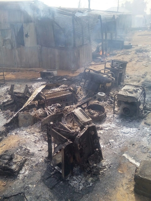 Ministry Equipment destroyed by Islamic fundamentalists