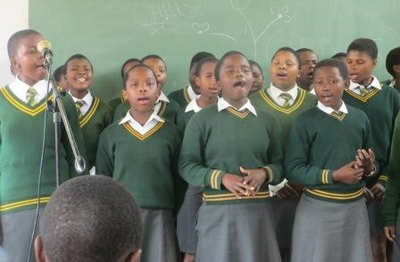 Children singing at Gege rally – Swaziland