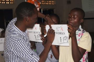 Bible Exposition at camp - Uganda