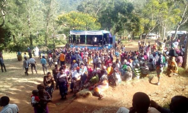 End of Open Air Crusade – Vudee Kilimanjaro, Tanzania