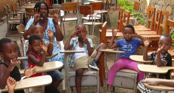 Ministering to Sunday School Children - Rwanda