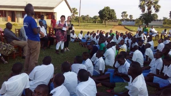 Ministering in a School During Kampala City-Wide Crusade - Uganda