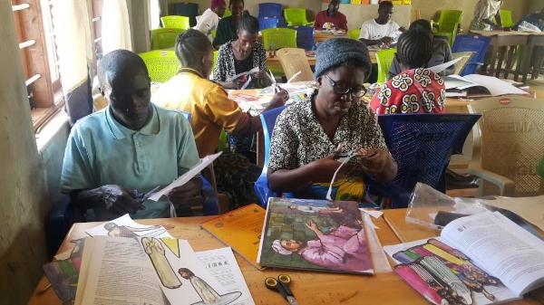 Making Sunday School Teaching Materials – Milo, Tanzania