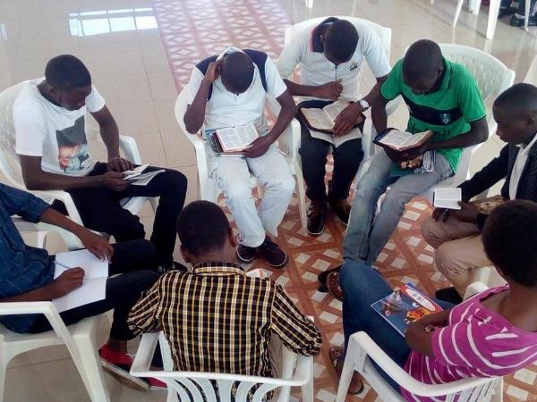 Bible Study Group at Camp – Rwanda