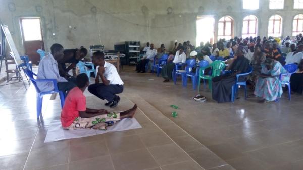 Skit at Positive Parenting Seminar – Kumi, Uganda
