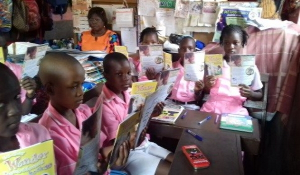 Children with Their Devotional Materials – Sierra Leone