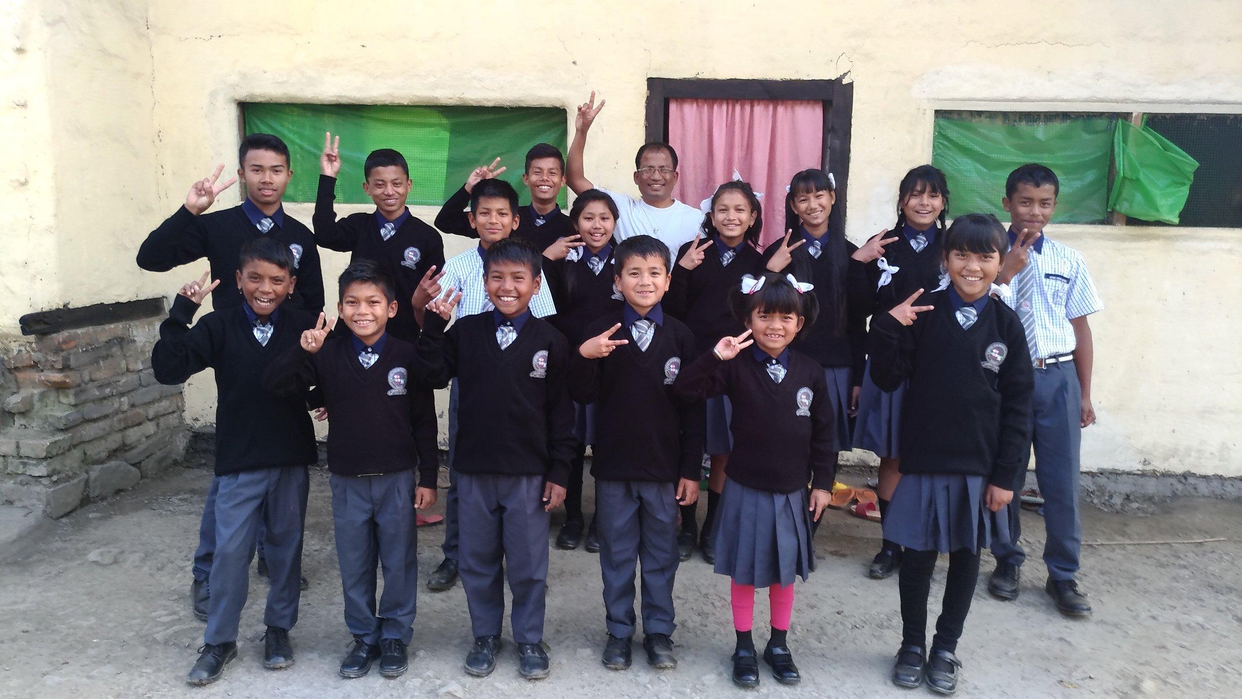 Manipur Home kids in school uniforms 2-2017.jpg