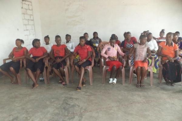 BAMATU Girls at Graduation - Congo DR