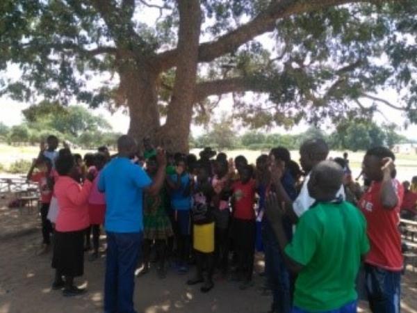 Group Meeting at Camp - Zambia