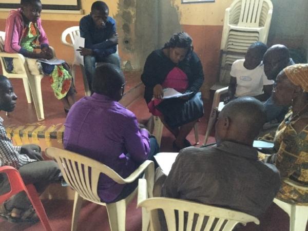 Group Bible Study at Camp - Cameroun