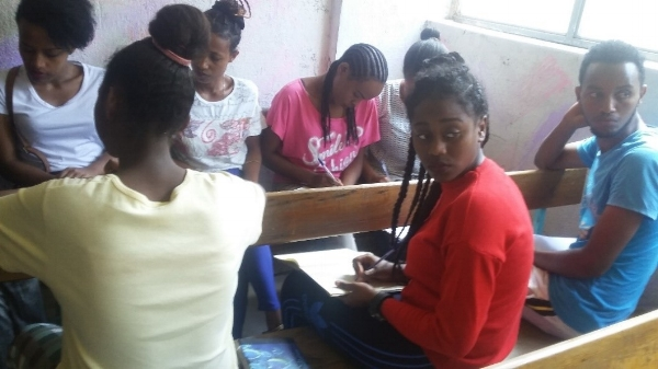 Small Group Discussion at Camp – Ethiopia