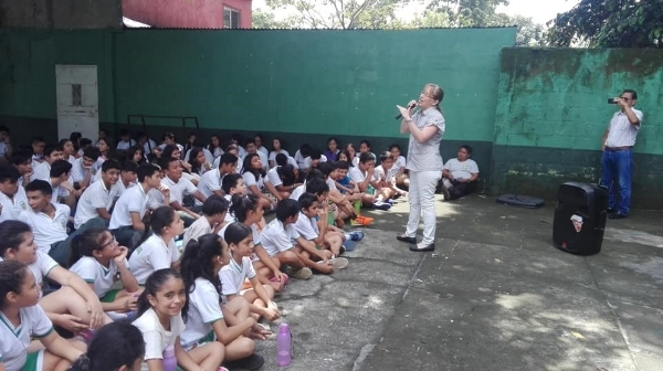 The Couple from Teaching Tools Ministering at the School - Guatemala