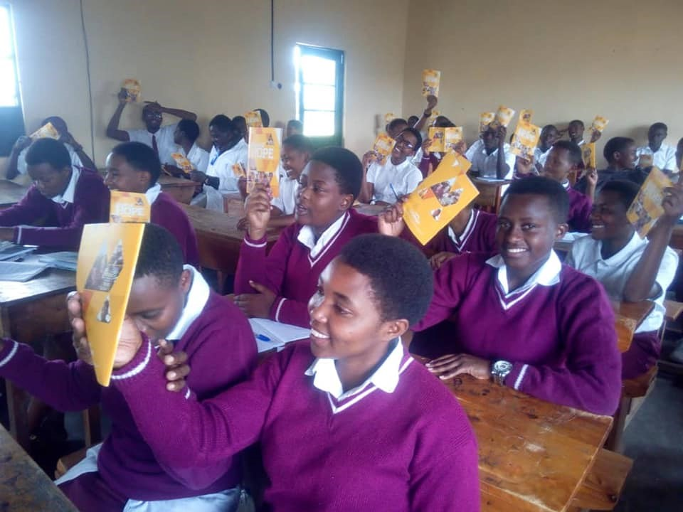 Bible Club Members with Meditation Materials - Rwanda