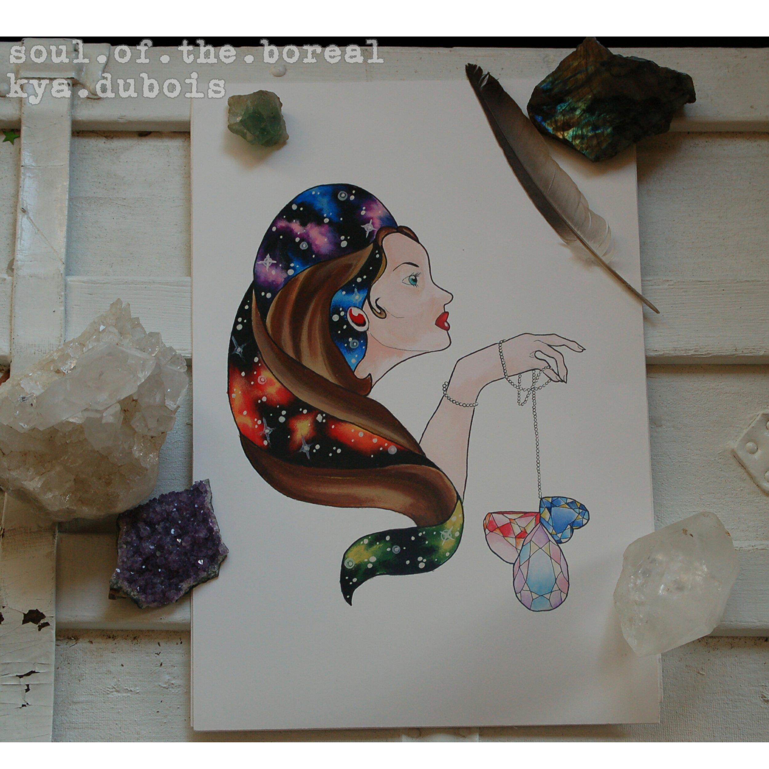 """Galaxy Girl"" - Prints $20"