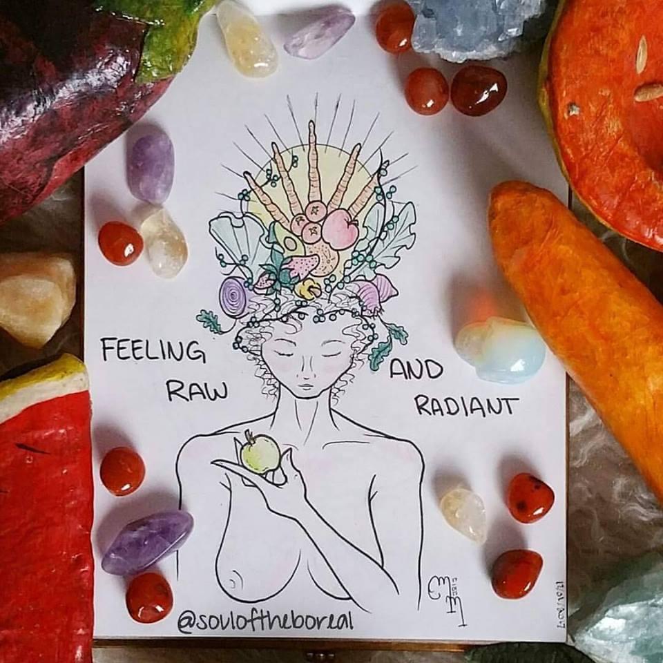 """Feeling Raw & Radiant"" - Prints $5"