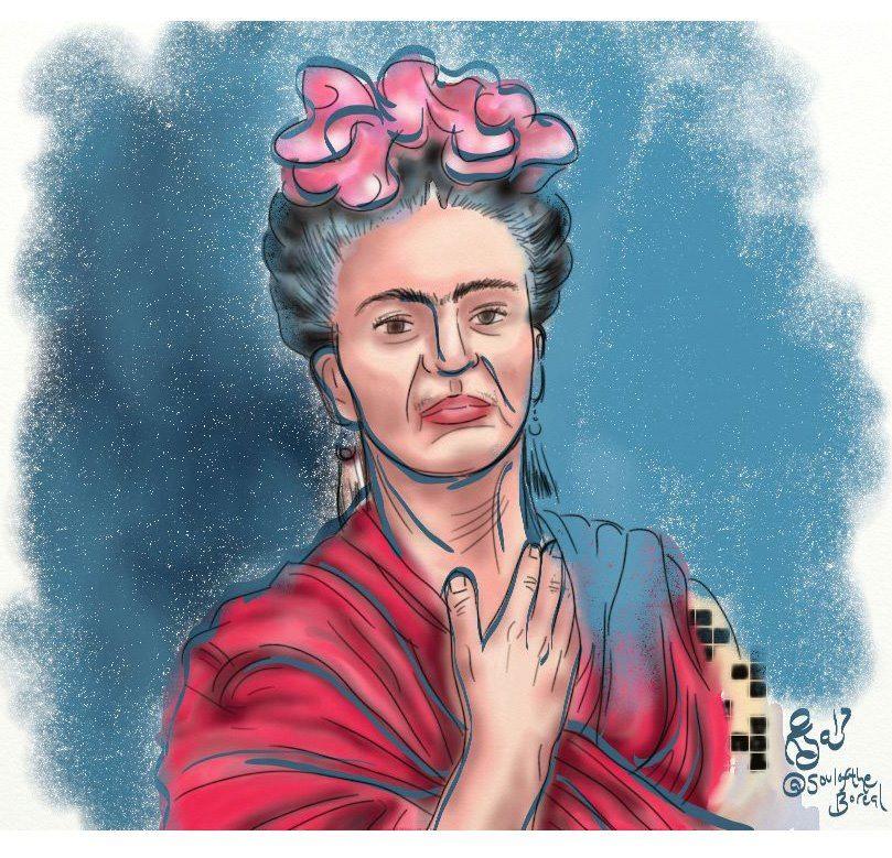 """Blue Frida"" - Prints $10"