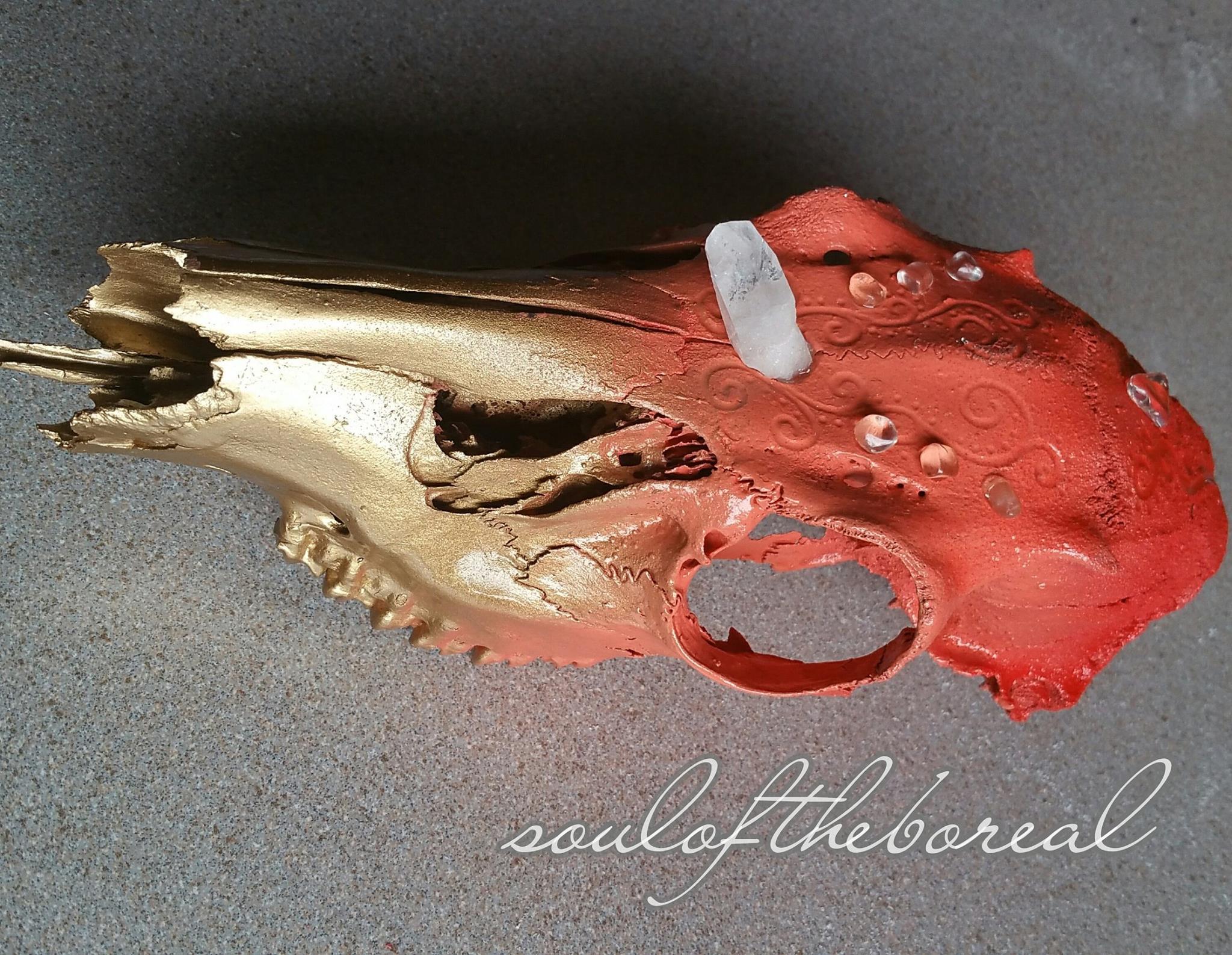 """Lemurian Deer Skull"" - SOLD"
