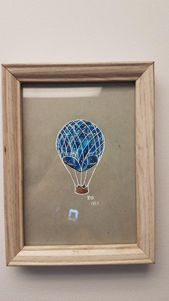 """Crystal Hot Air Balloon"" - Original $40"