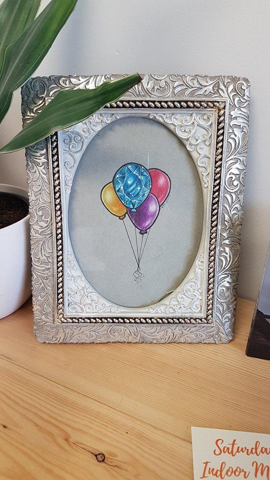 """Crystal Balloons"" - Original $40"