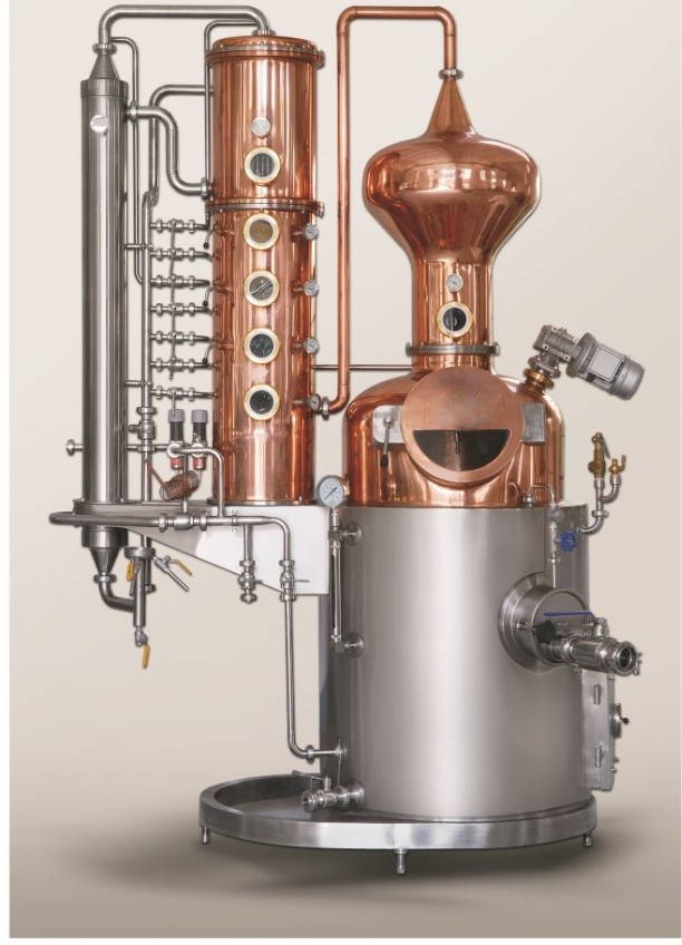 The Aroma Unit - Model name: GEXDISU-ARUMain equipment:- Pot Still- Ball Hat- Rectification Column- Dephlegmator- Condenser- CIP System- PipingMaterial:- Stainless Steel- Copper