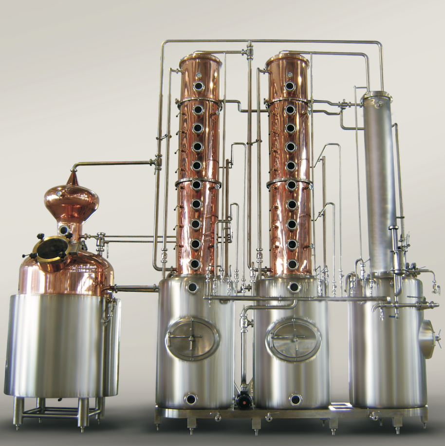 The Industrial Unit - Model name: GEXDISU-INDUMain equipment:- Pot Still- Ball Hat- Rectification Column- Fine Distillation Column- Dephlegmator- Condenser- CIP System- PipingMaterial:- Stainless Steel- Copper