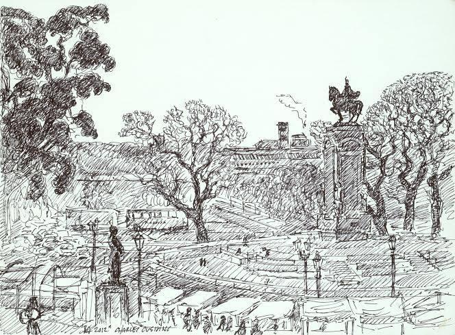 """""""Equestrian Monument, Recoleta"""" (sold)"""