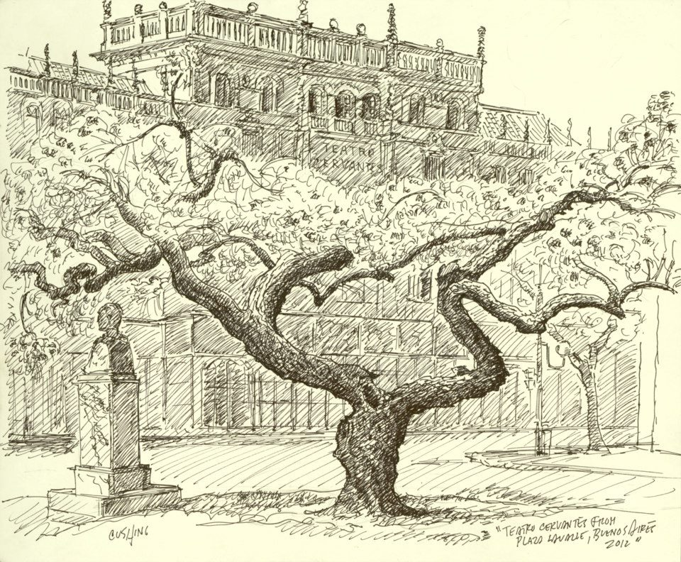 """Ceibo Tree, Teatro Cervantes"" 14 x 19"""