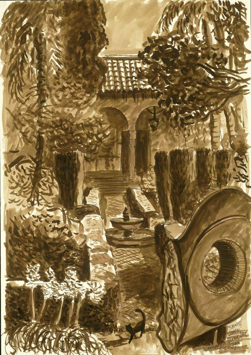 """""""Spanish Garden"""" 19 x 14"""" (sold)"""