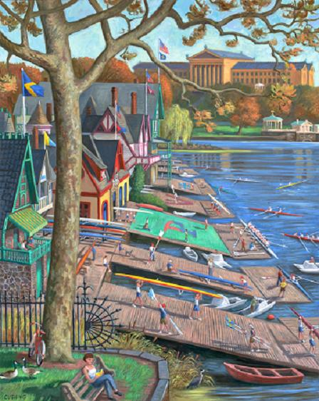 """Boathouse Row, Art Museum""  60 x 36"" (sold)"
