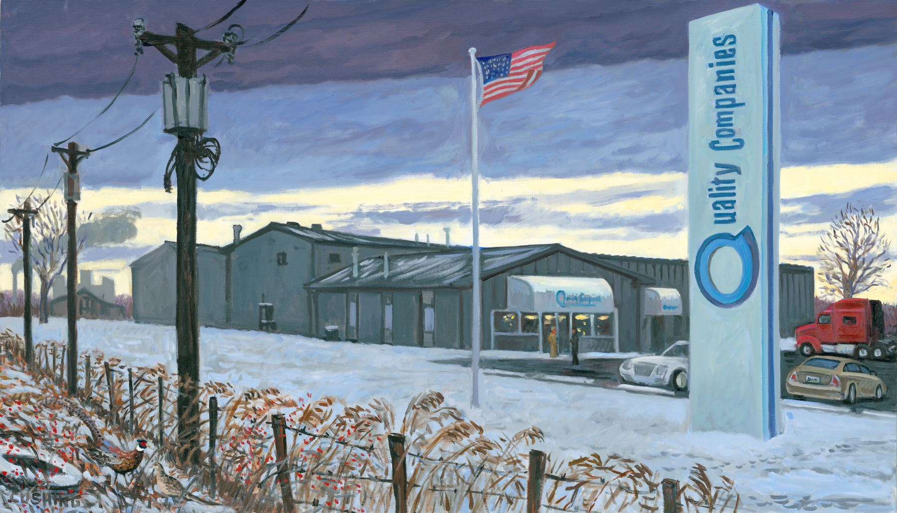 """Quality Companies, Second Headquarters"" 32 x 48"""