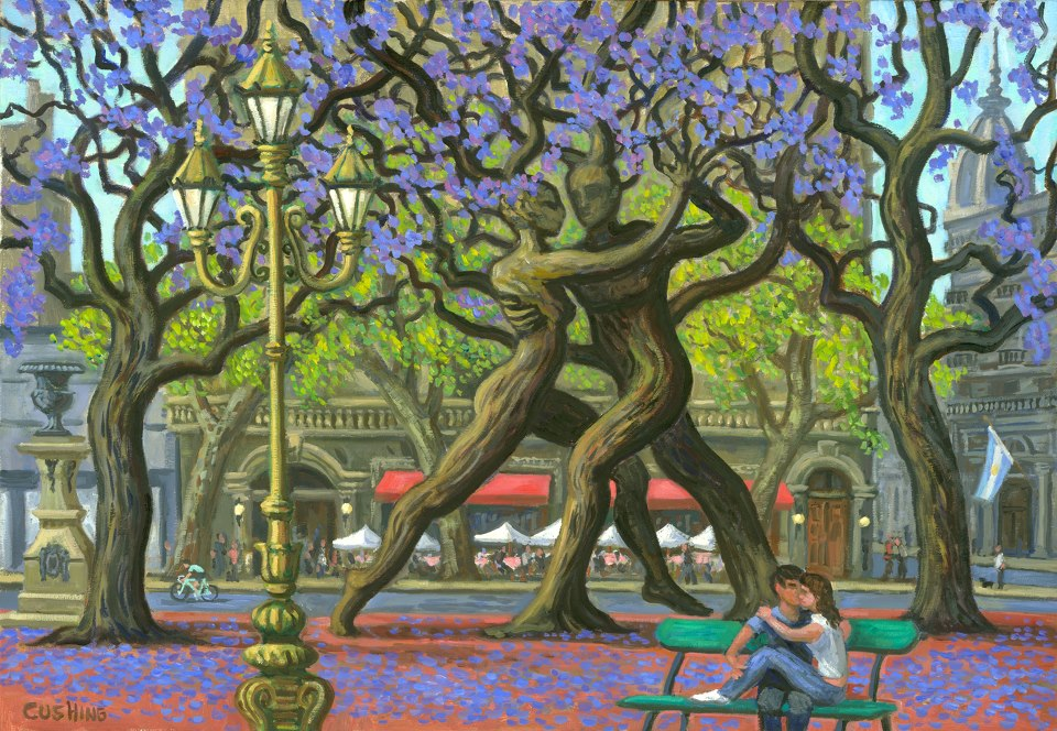 """""""Spring in Buenos Aires"""" 18 x 26"""" (sold)"""