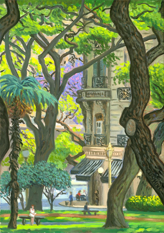 """""""Balconies Near Plaza San Martin"""" 24 x 17"""" (sold)"""