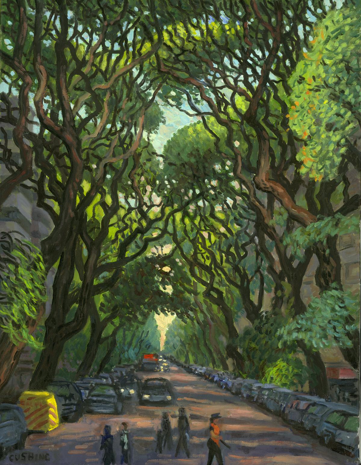 """Evening Light, Tipa Trees"" 25 x 21"" $1750.00"