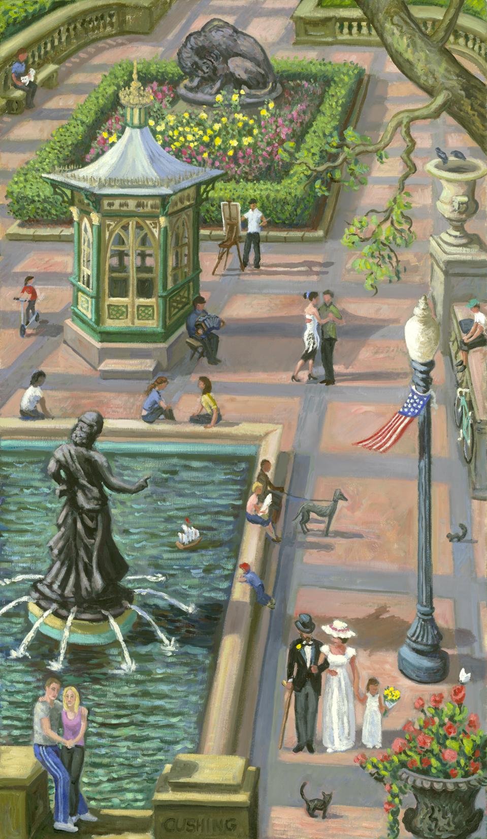 """Rittenhouse Square Caprice""  30 x 16"" (sold)"
