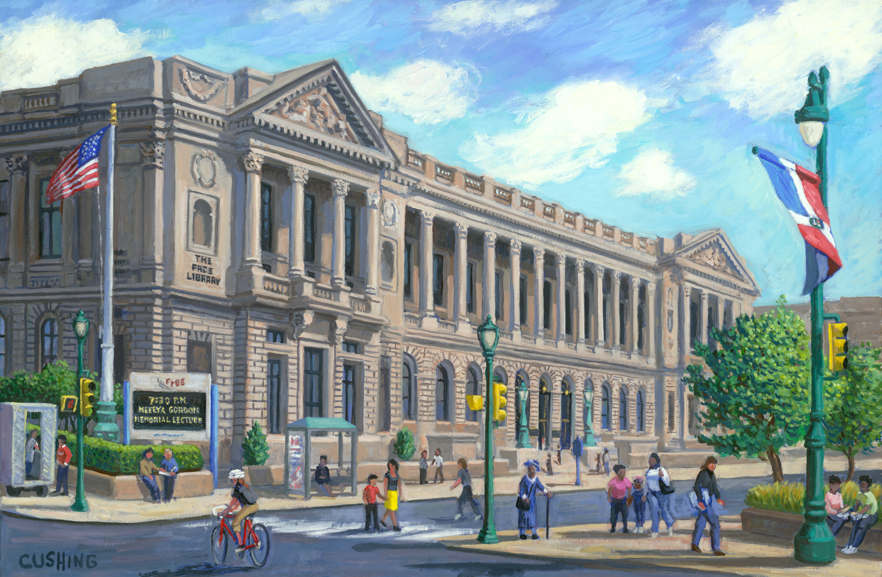 """Free Library of Philadelphia""  24 x 36"" (sold)"