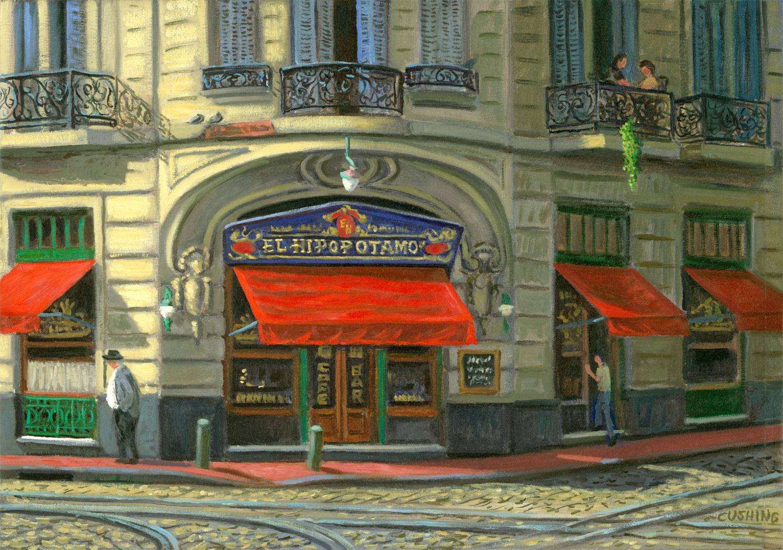 """Cafe Hipopatomo"" 18 x 27"" (sold)"