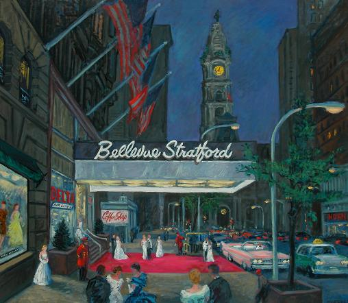 """Debutantes at the Bellevue-Stratford Hotel, Circa 1960"" 32 x 40"""