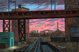 """""""By the Tracks"""" 40 x 60"""" (sold)"""