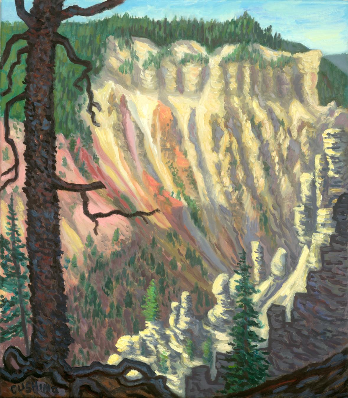 """""""Yellowstone Canyon Walls"""" 24 x 21"""" $1750.00"""