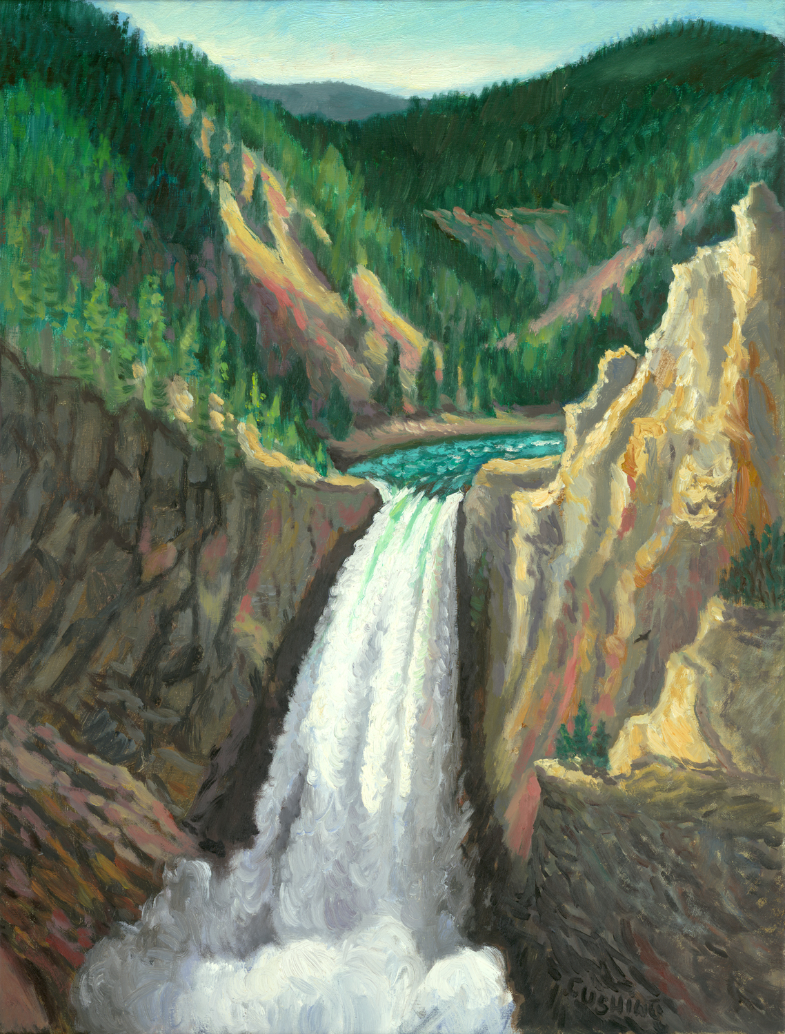 """""""Great Falls of the Yellowstone River"""" 25 x 20"""" $1750.00"""