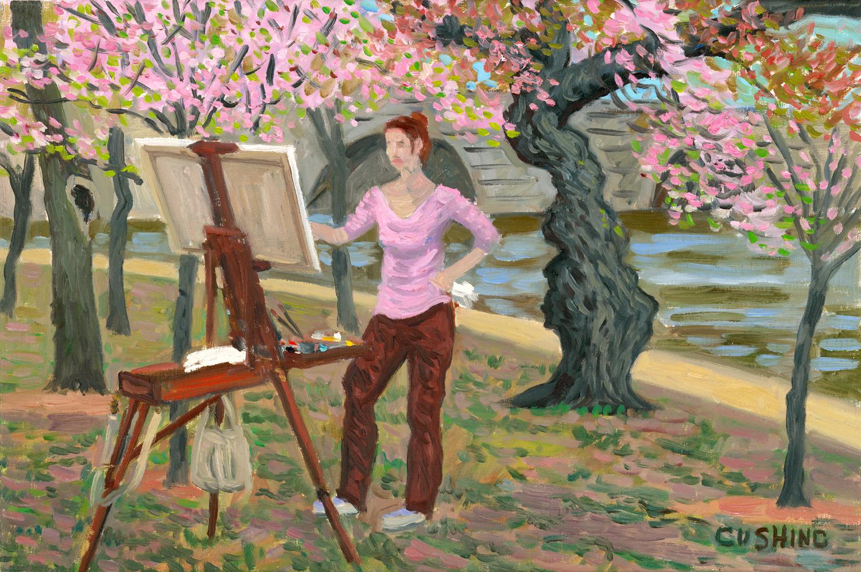 """""""Masha Painting, Washington, D.C."""" 16 x 24"""" $1750.00"""
